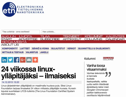 Finland's Elektroniikkalehti is now ETN