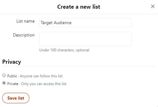 Twitter List - B2B Tech Blog Following