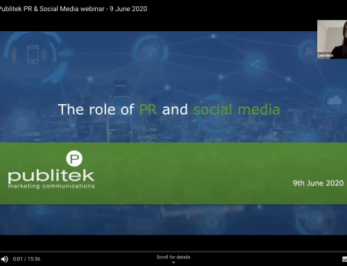 Webinar: The role of PR and social media